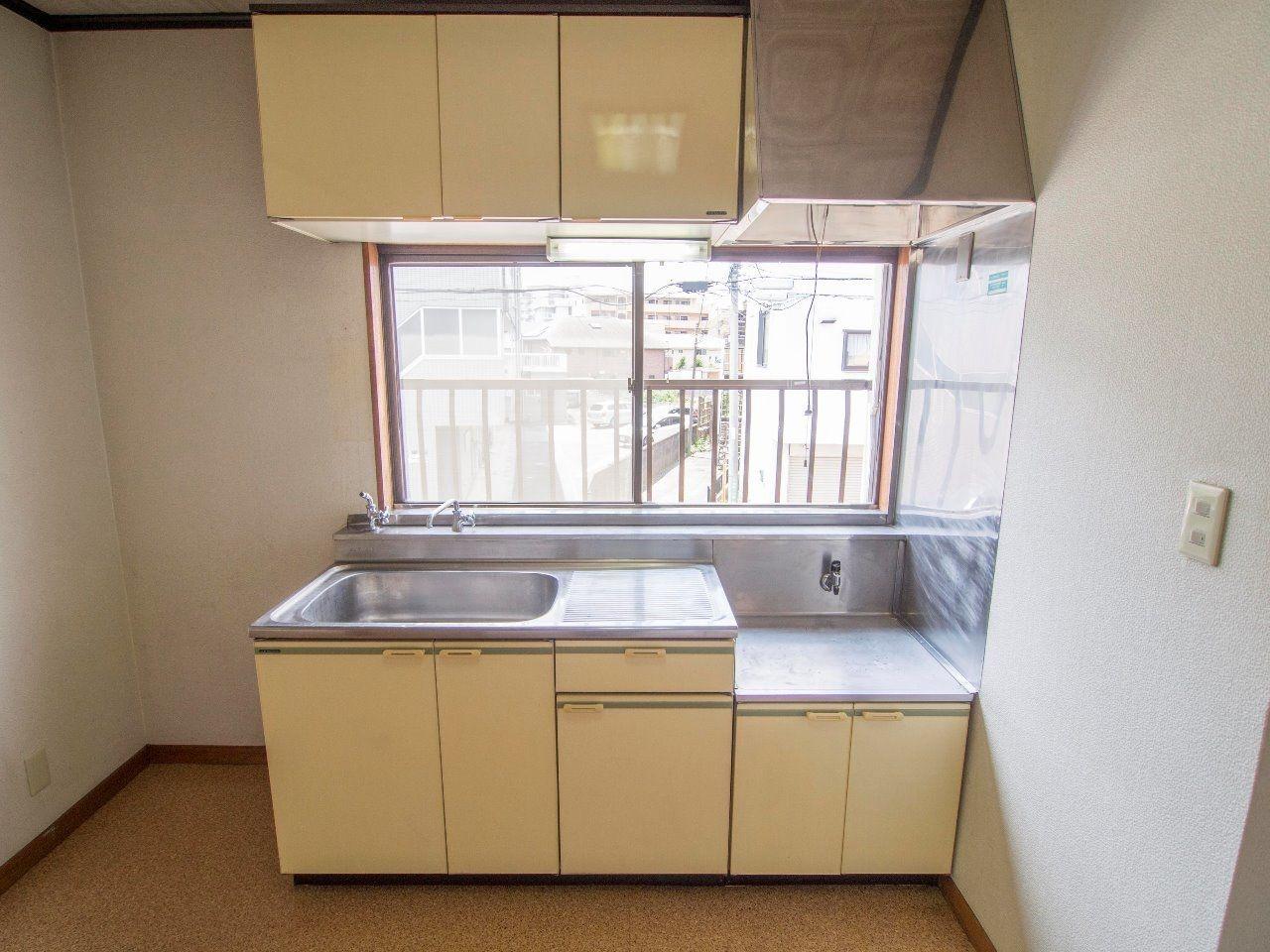 2口ガスコンロ設置可能なキッチン