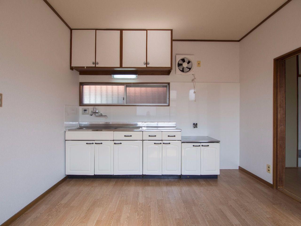 ワイドなキッチンで料理の腕も上がりそう