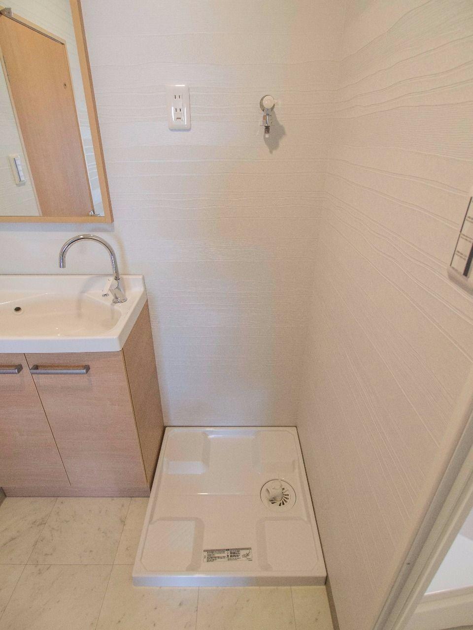 防水パンのある洗濯機置場(W60cm×D60cm)