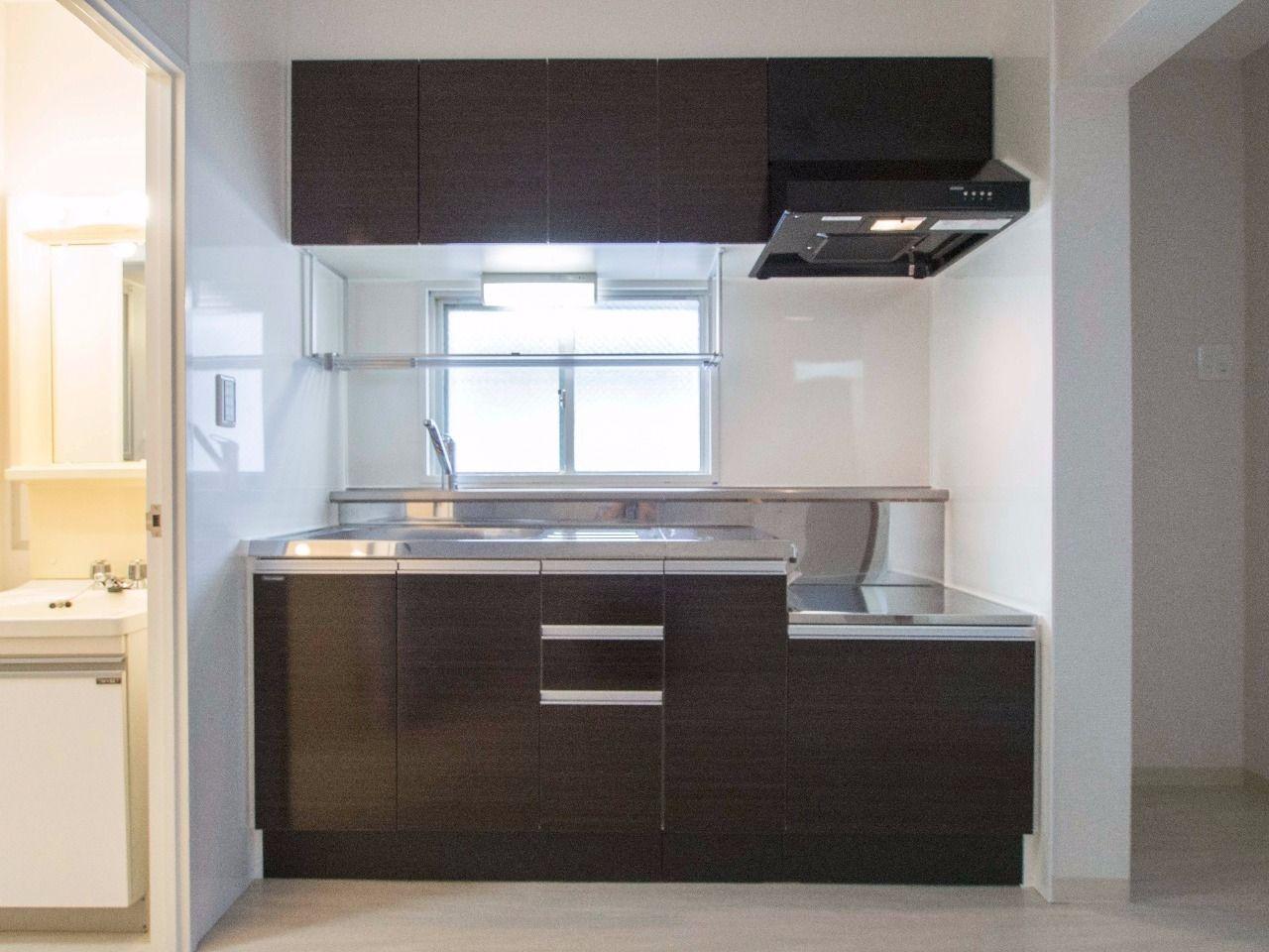 新しく入替えたガスコンロ対応キッチン(都市ガス)
