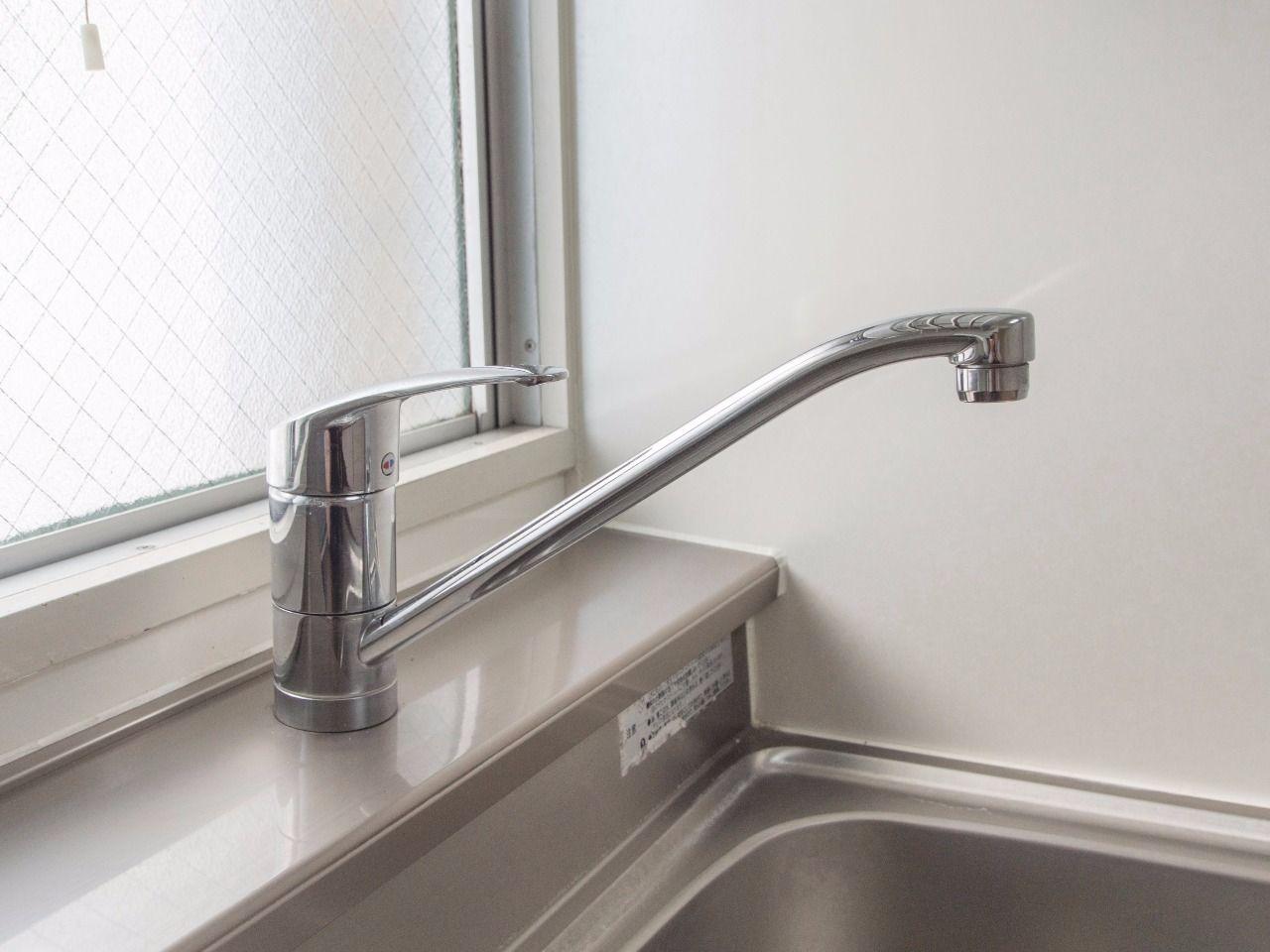 水量・水温の調節が簡単なワンレバー水栓を採用