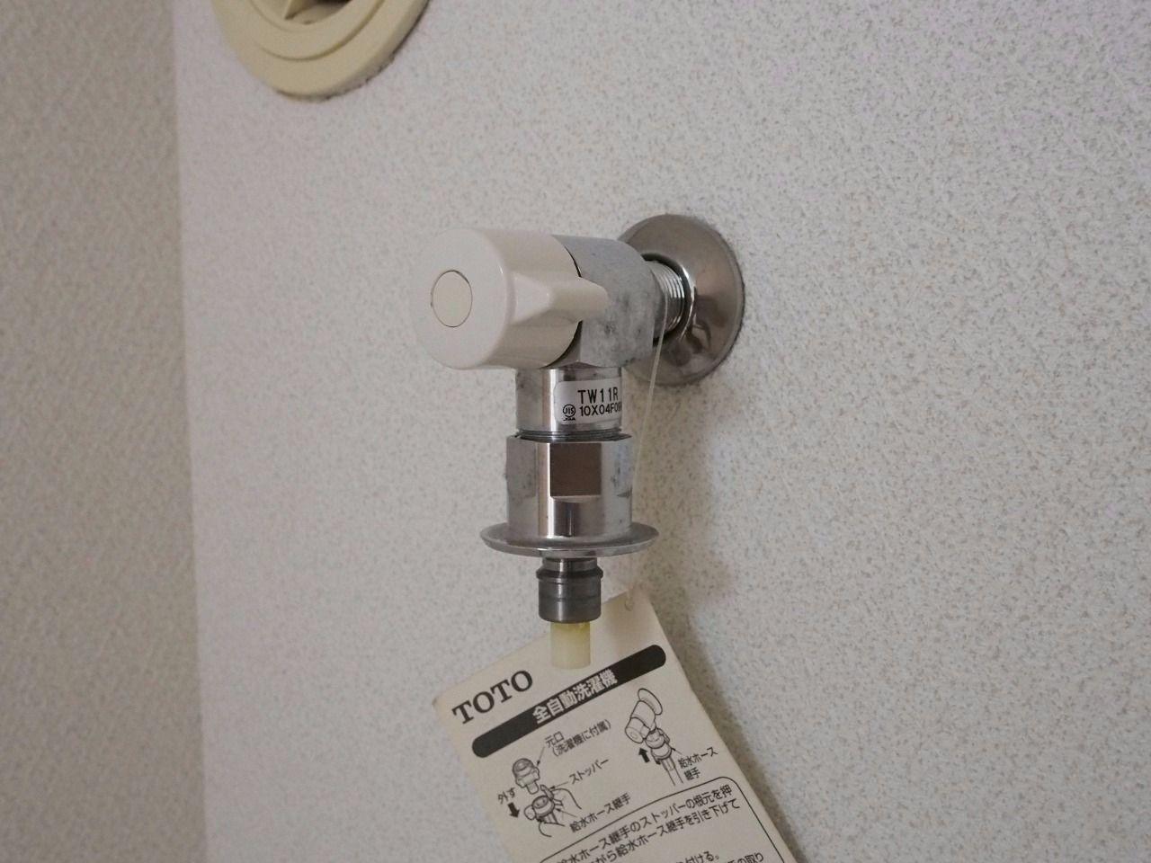 洗濯ホースの取付が簡単なワンタッチ式水栓