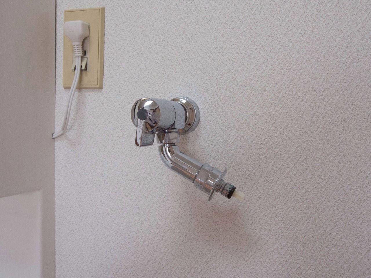 洗濯ホースの取付が簡単な洗濯水栓