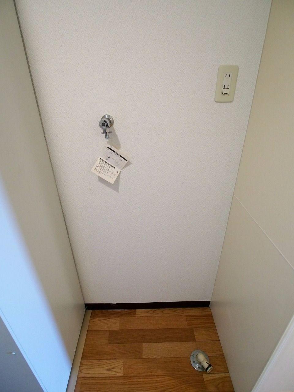 キッチン横の室内洗濯機置場