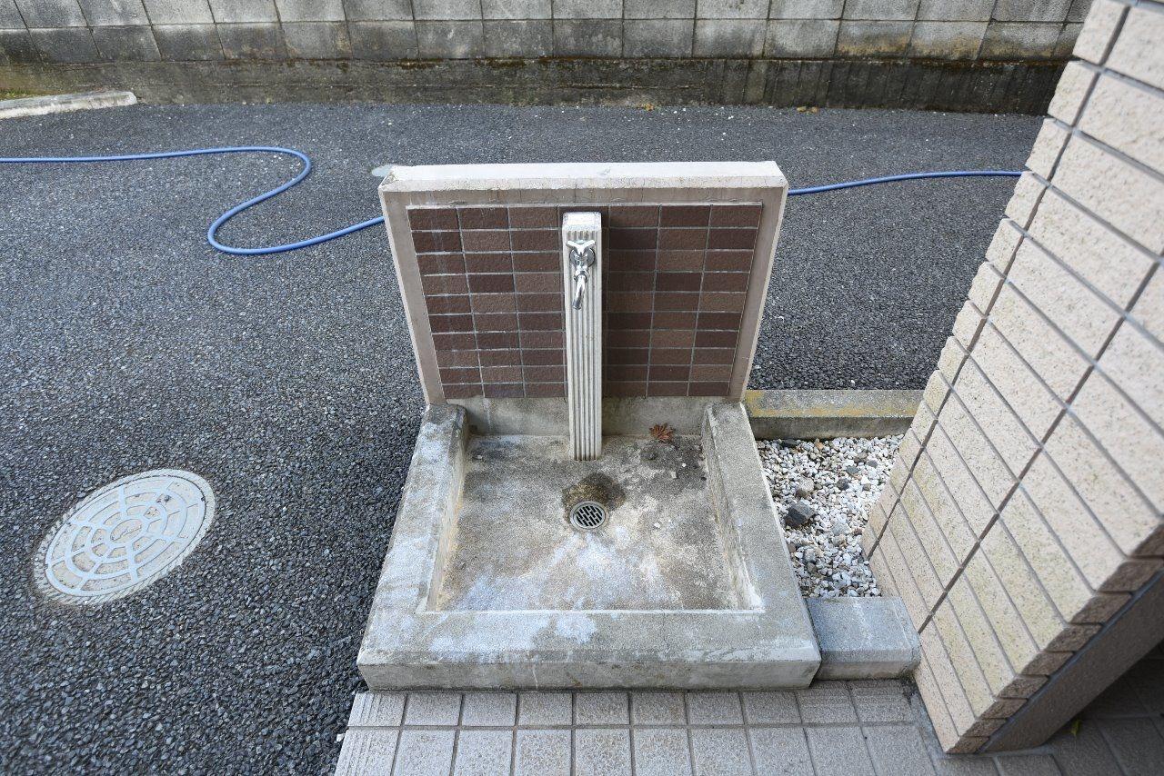 ペットの足洗い場としても利用可能