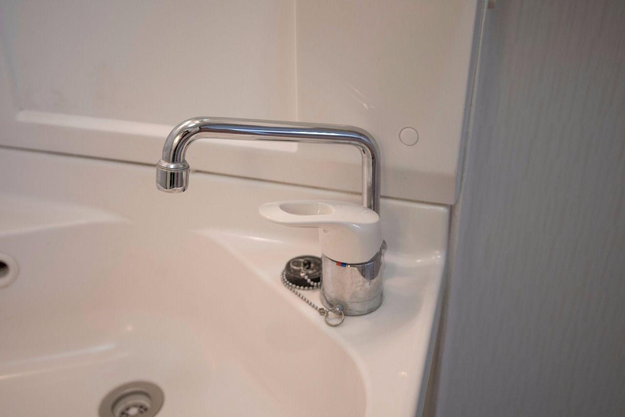 洗面水栓もワンレバー式