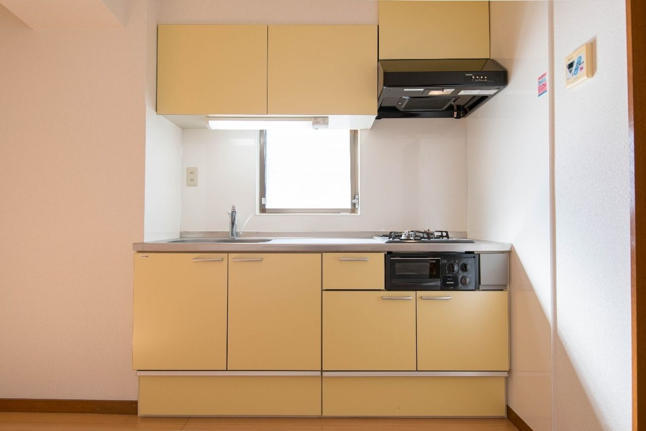レモン色のかわいいキッチン