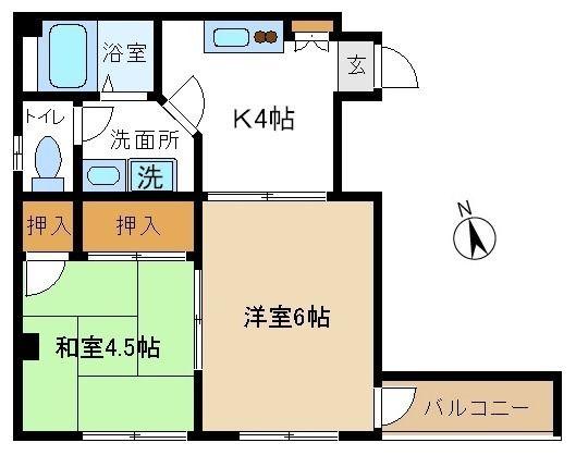 立川駅徒歩8分の2Kのお部屋