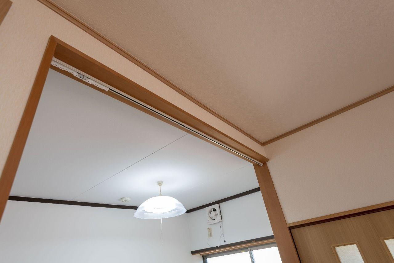 キッチンスペースとはカーテンで仕切ることが可能