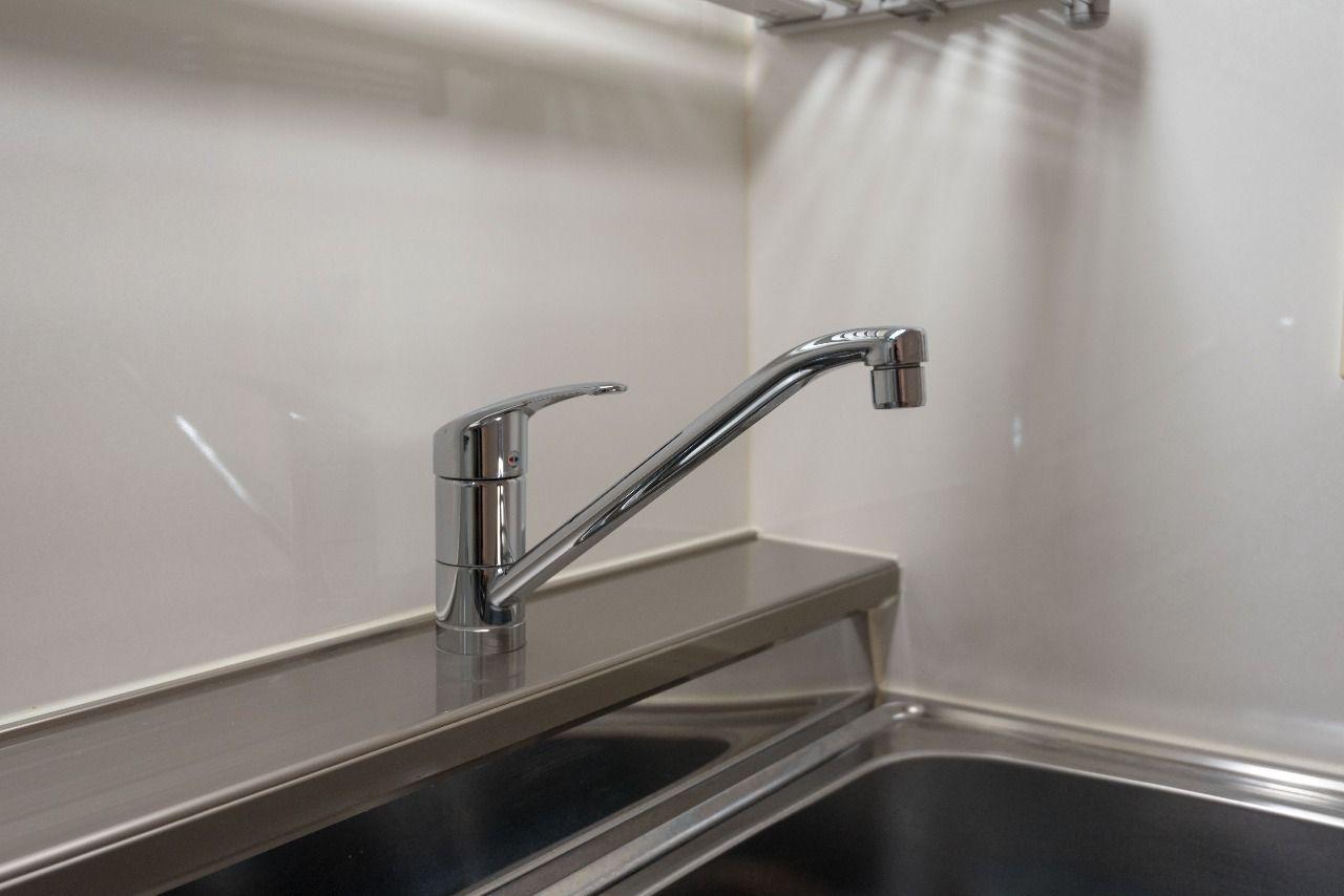使い勝手の良いワンレバー式水栓