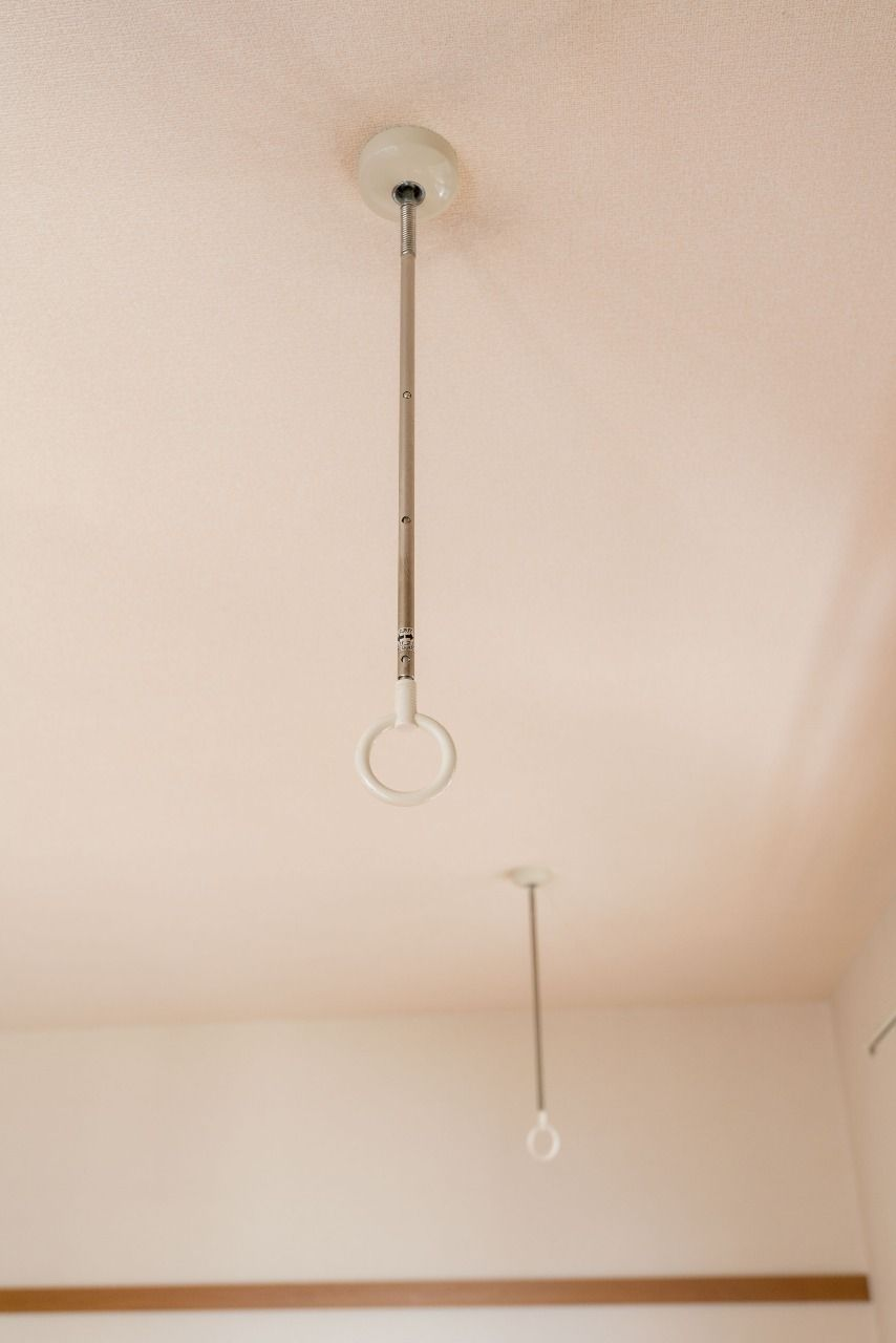 物干し竿を通すと室内干しが可能