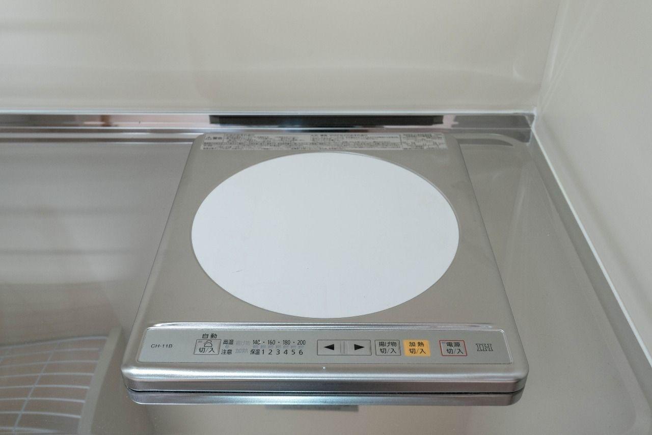 100Vの便利なキッチンのIHコンロ