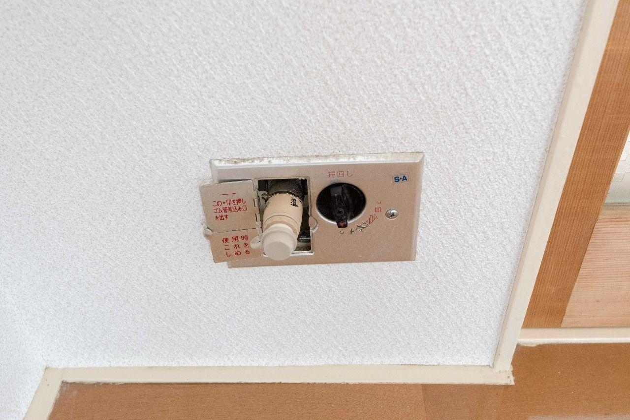 ガス暖房などに利用できる室内ガス栓