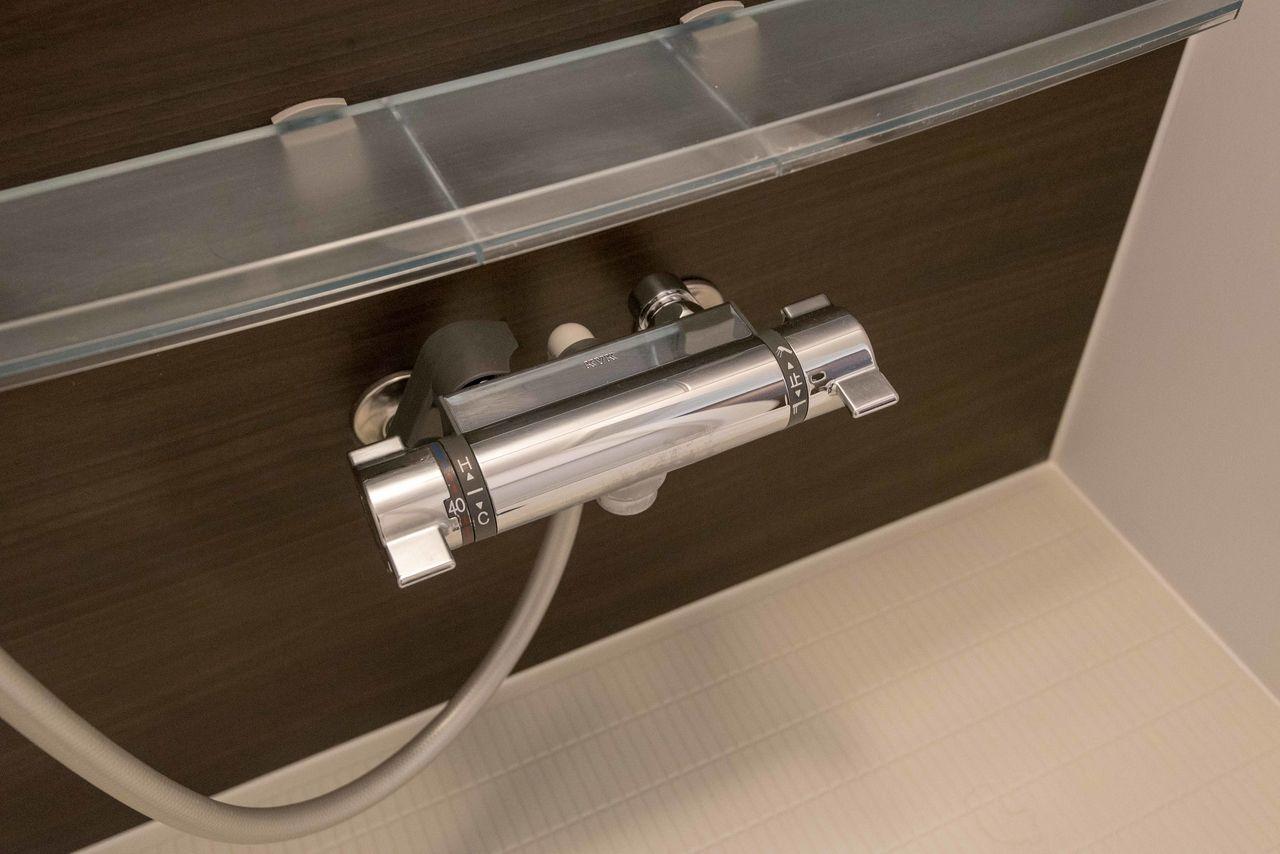 使い勝手の良いサーモスタット式混合栓