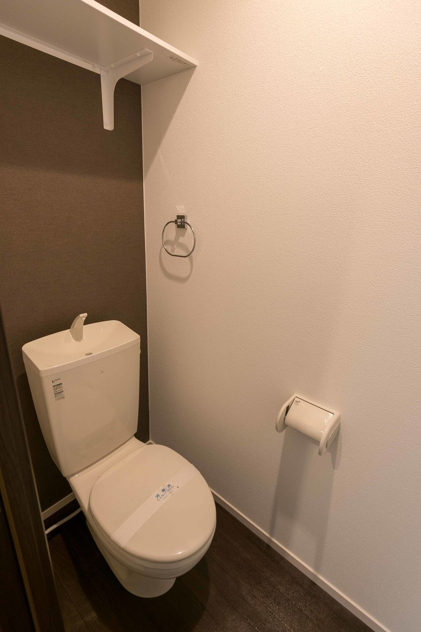 上棚付のトイレ