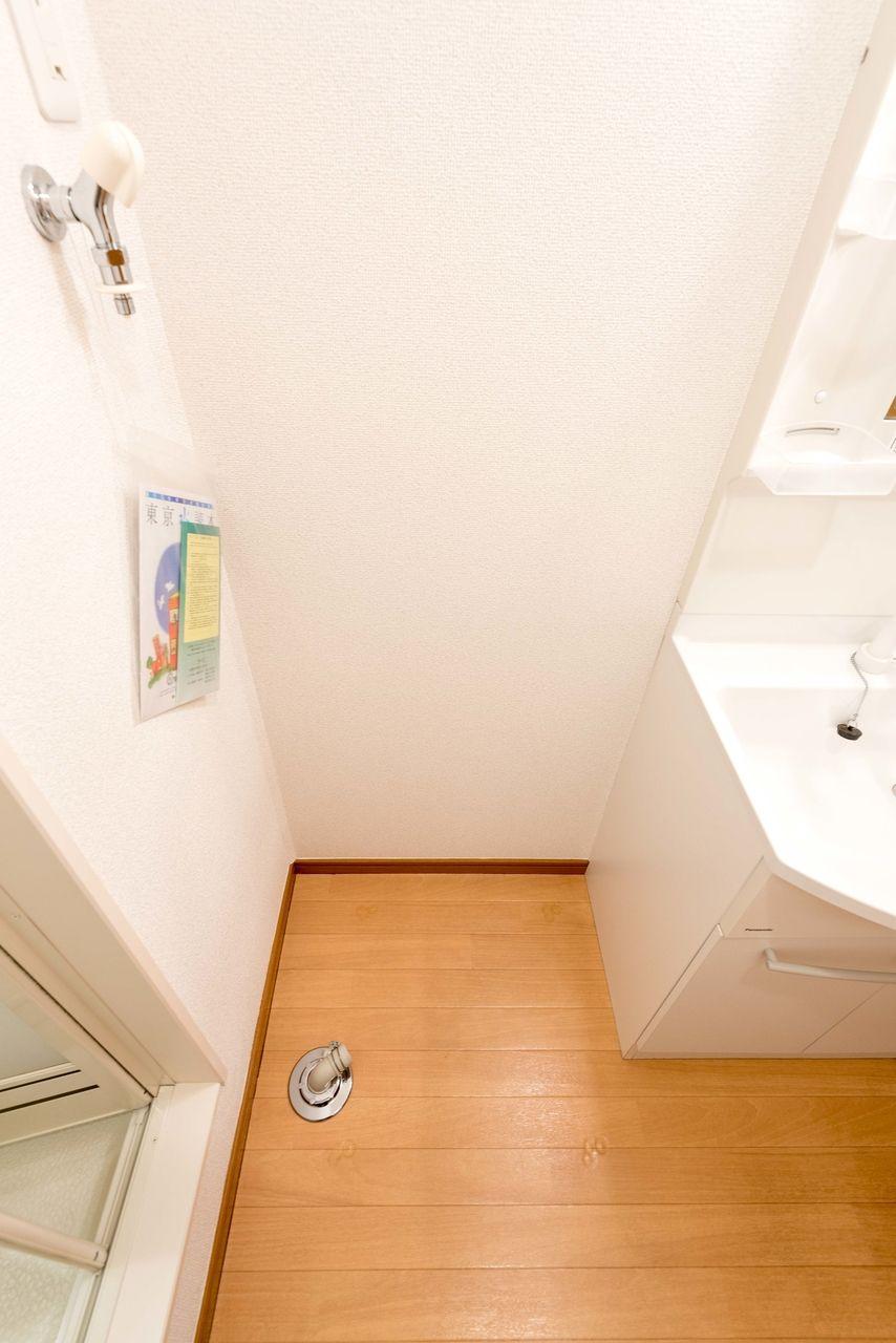 洗面所の室内洗濯機置場
