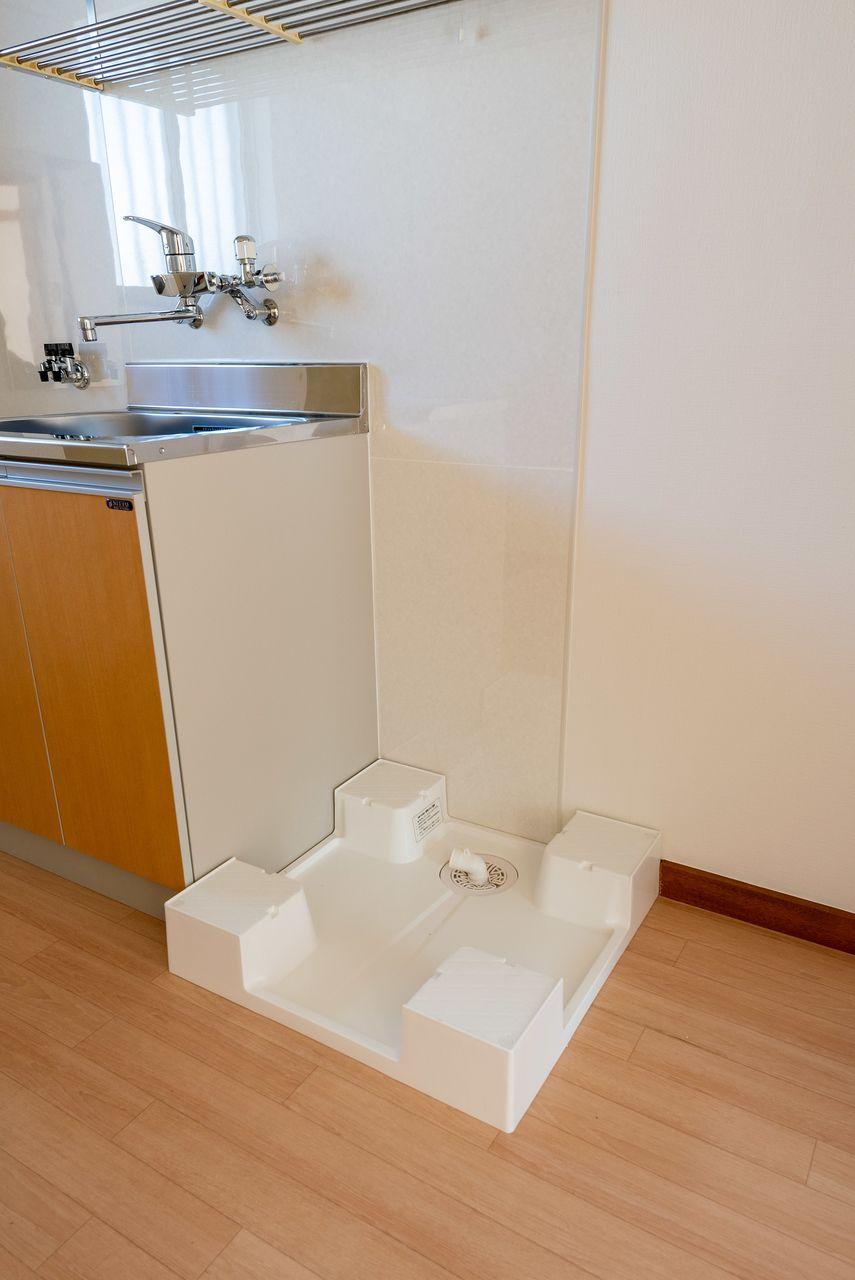 ドラム式も対応可能な防水パン