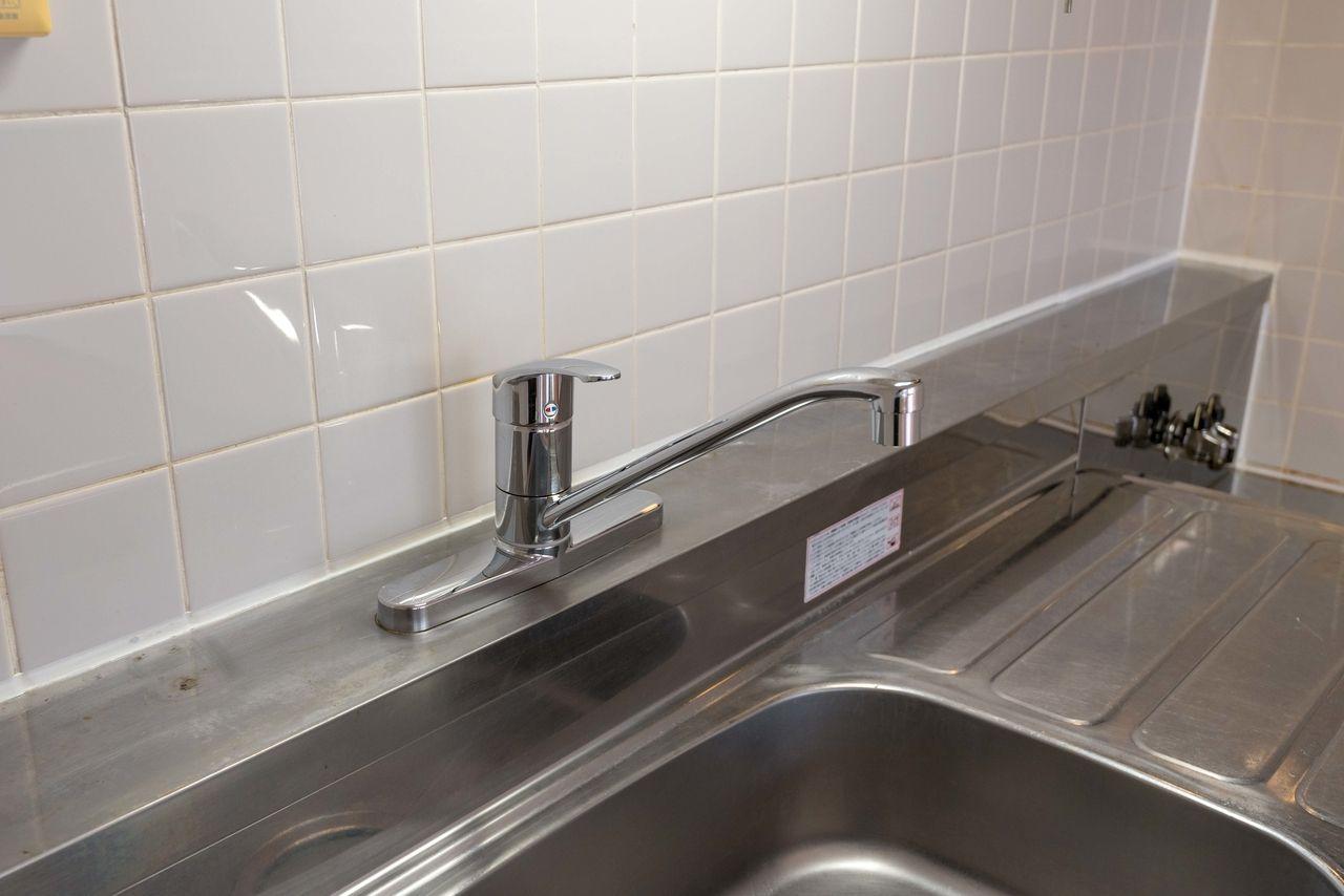 便利なワンレバー式混合水栓