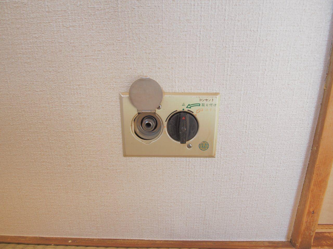居室内でガスストーブが使えます。