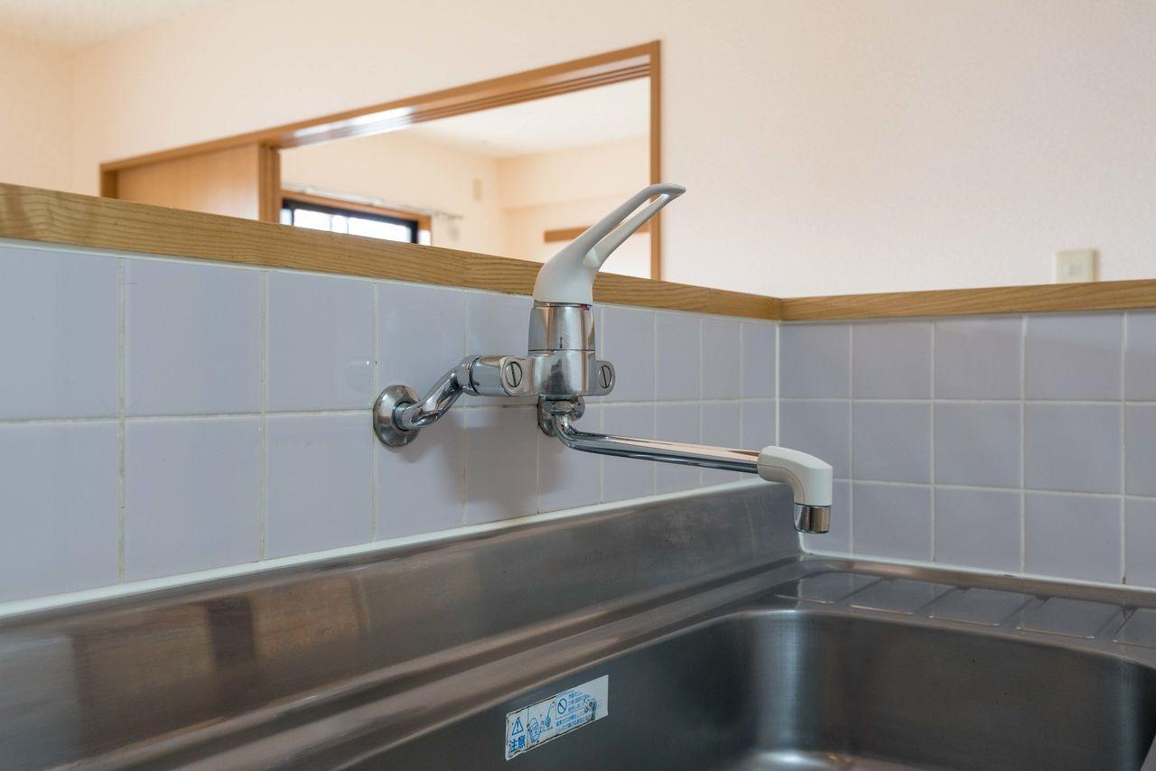 使い勝手の良いワンレバー混合水栓