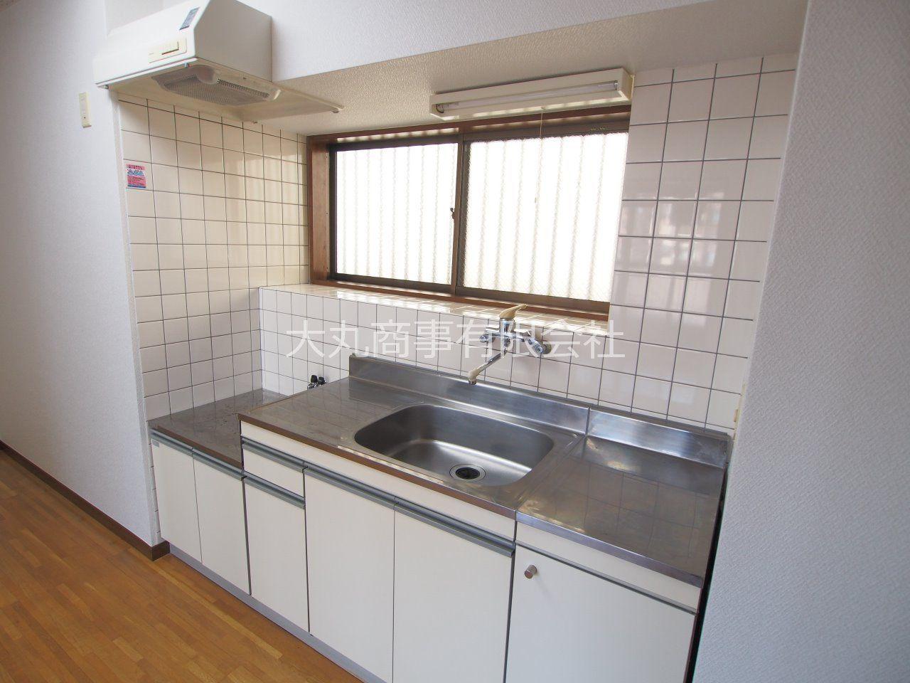 2口ガスコンロ対応可能なキッチン