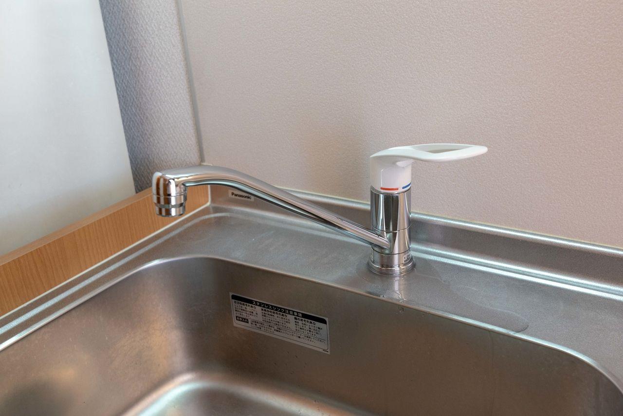 ワンレバー式で使いやすい水栓