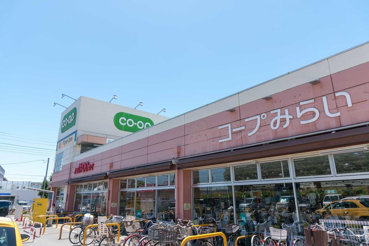 上北台駅前のコープ