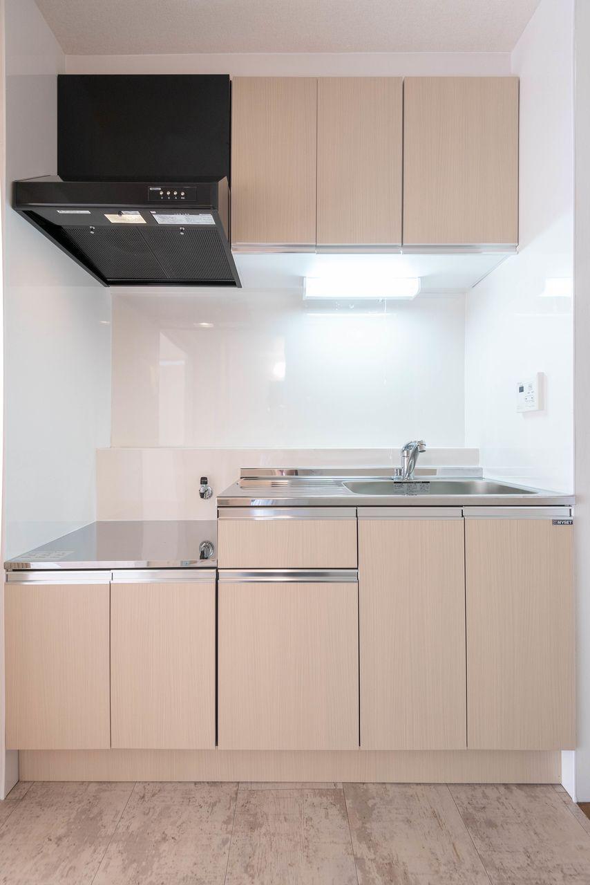 2口ガスコンロ(都市ガス)対応のキッチン