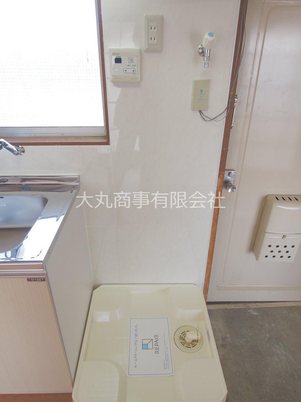 室内洗濯機置場で洗濯機を汚しません