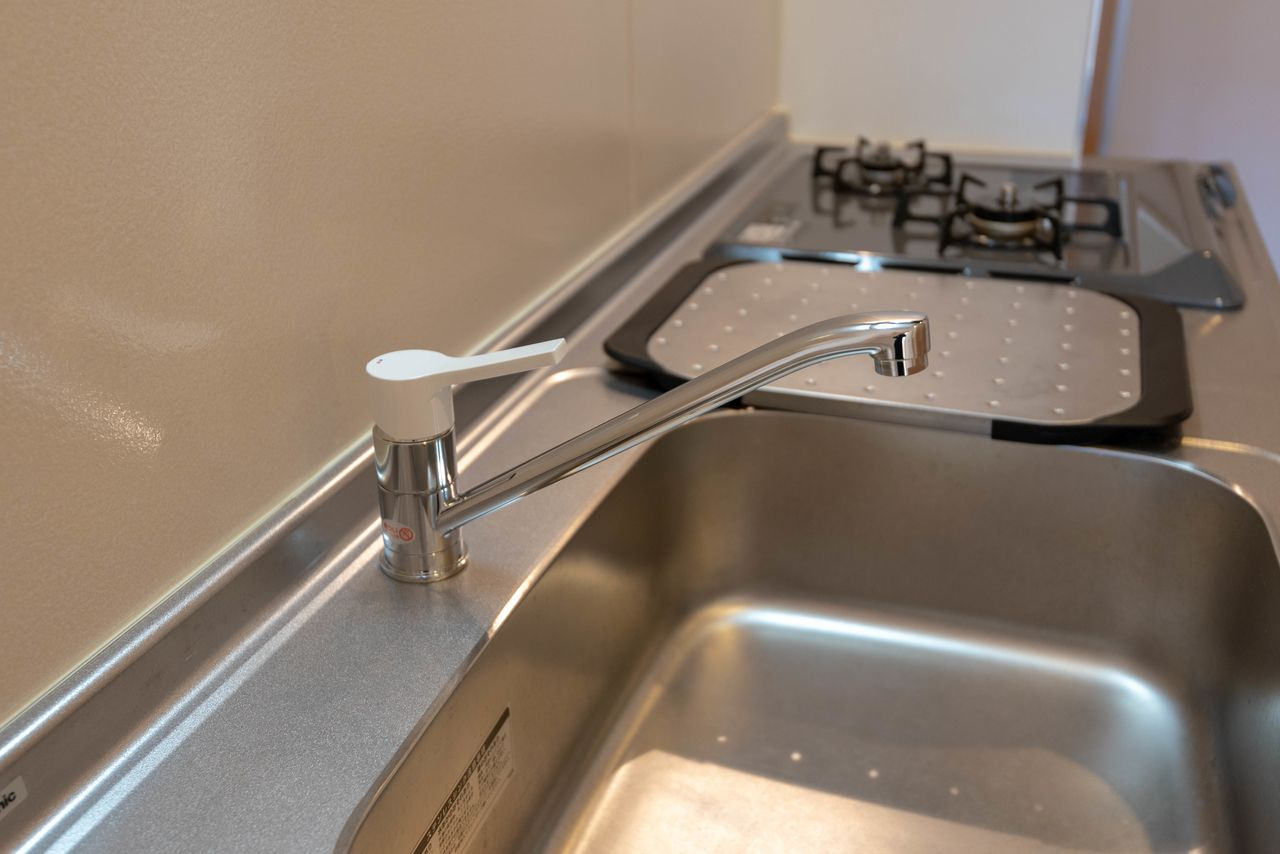使い勝手の良いワンレバー式混合水栓