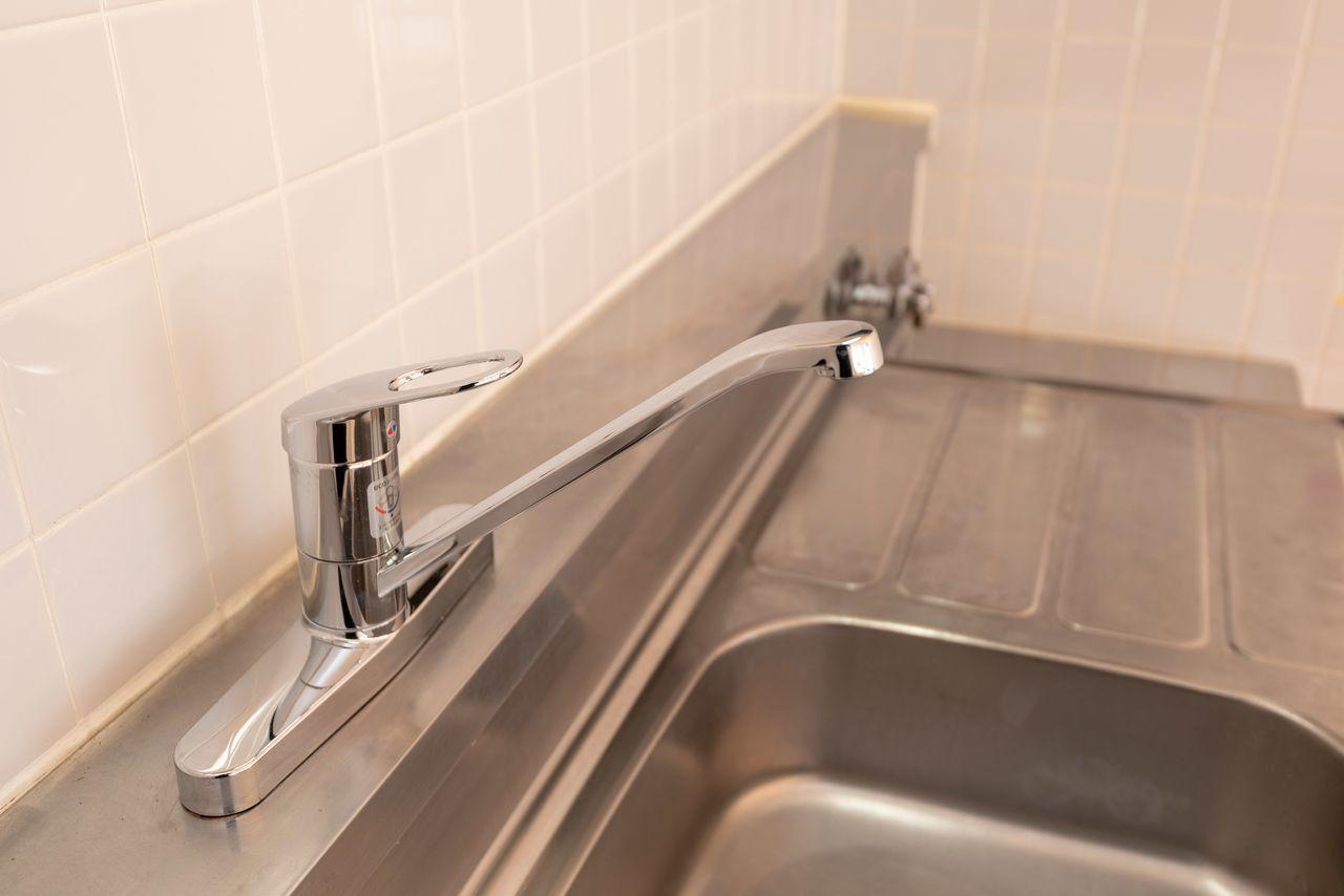 ワンレバー式混合水栓で水仕事を楽に