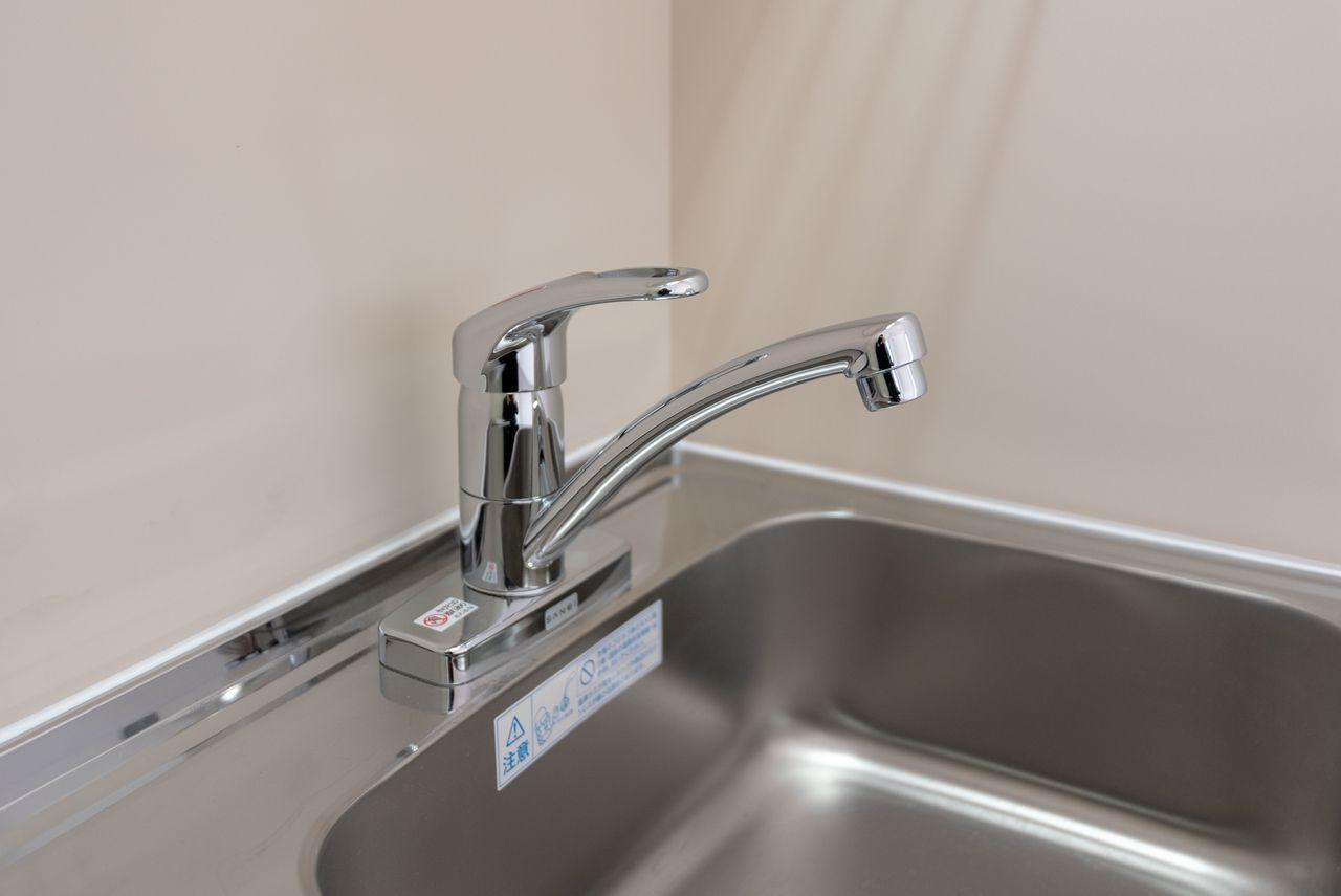 便利なワンレバー式水栓