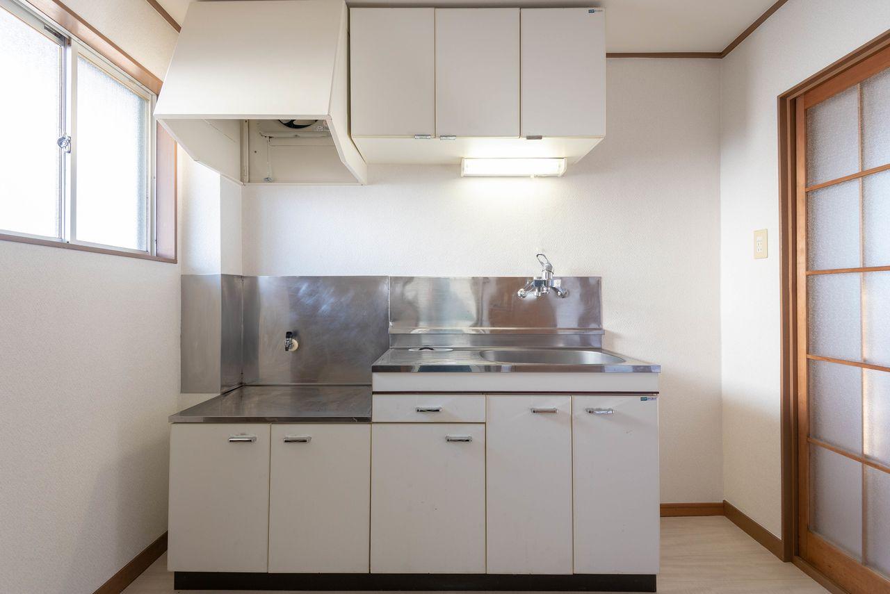2口ガスコンロの置けるキッチン(都市ガス)