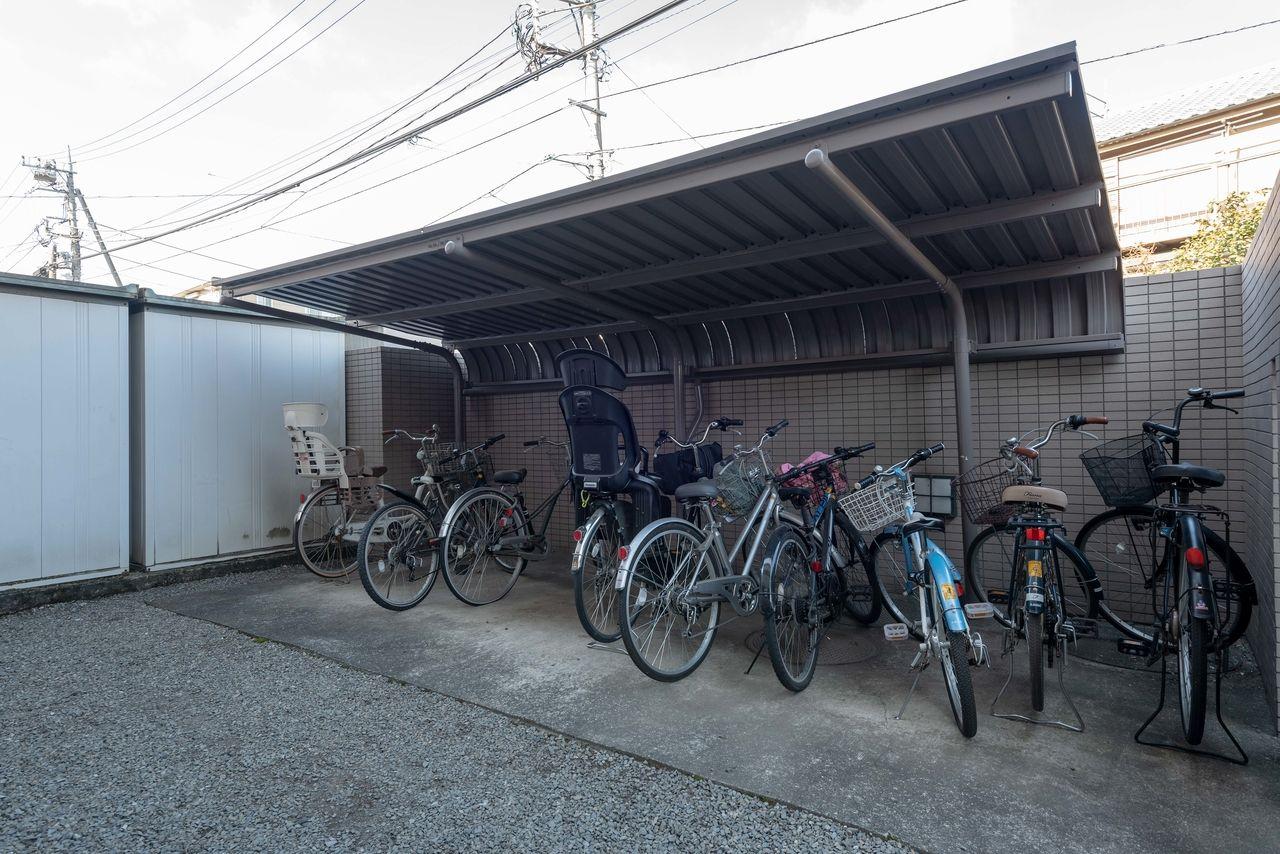 安心の屋根付駐輪場