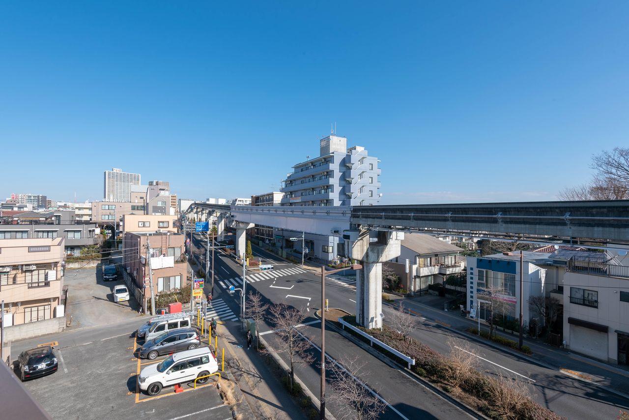 立川駅周辺まで見通せる眺望の良さ