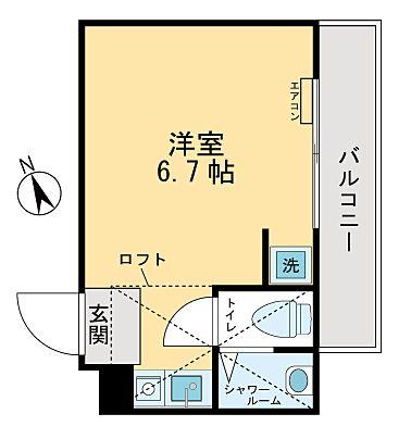 立川駅徒歩8分のワンルーム