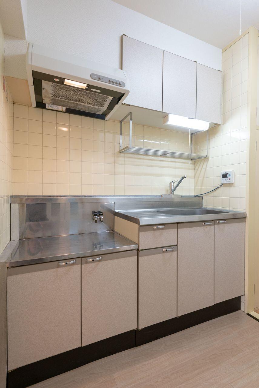 二口ガスコンロ(都市ガス)対応キッチン