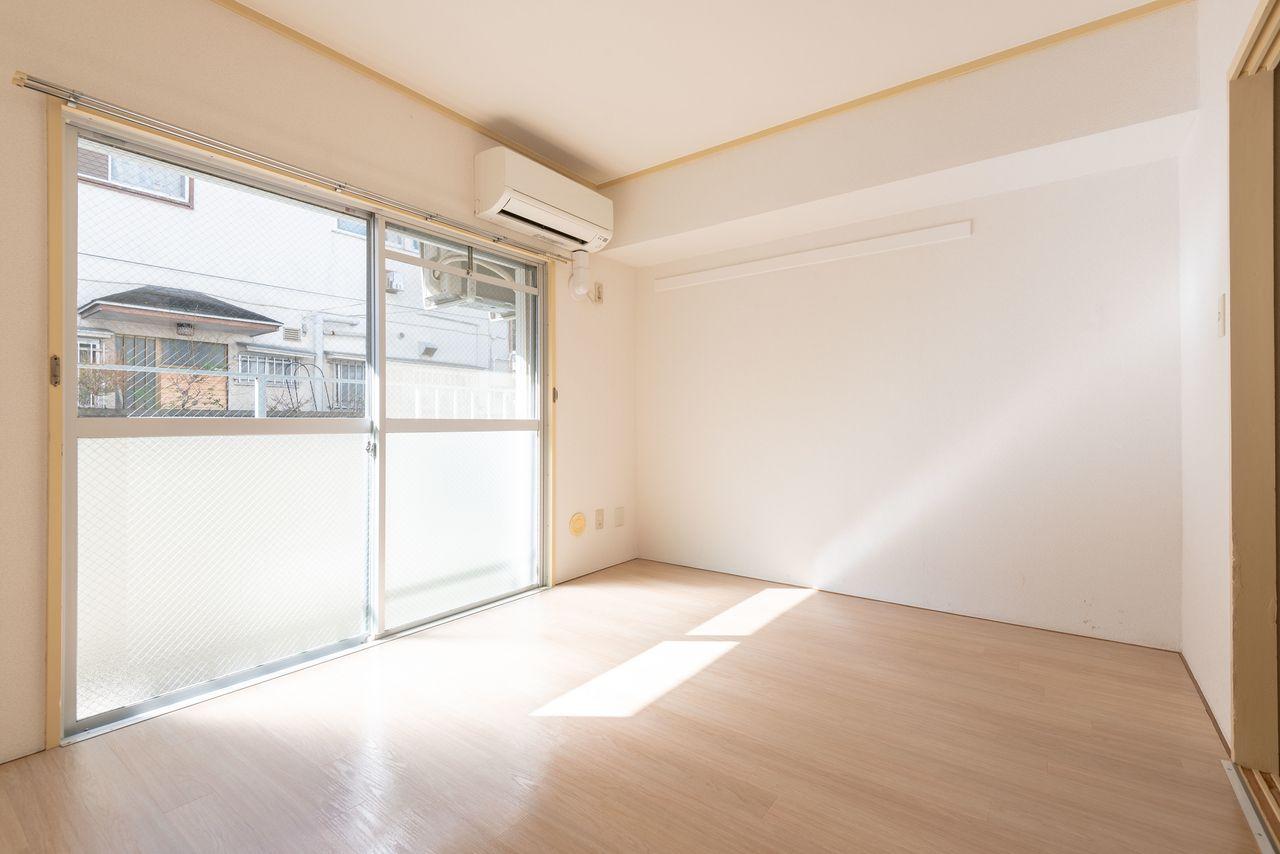 四角形で壁面もあり家具配置がしやすい