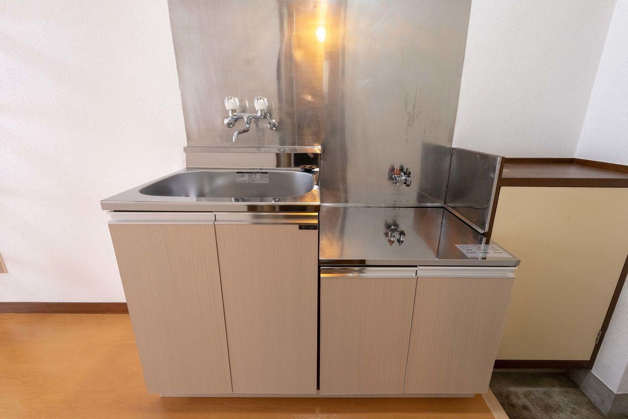ガスコンロ(都市ガス)対応のキッチン