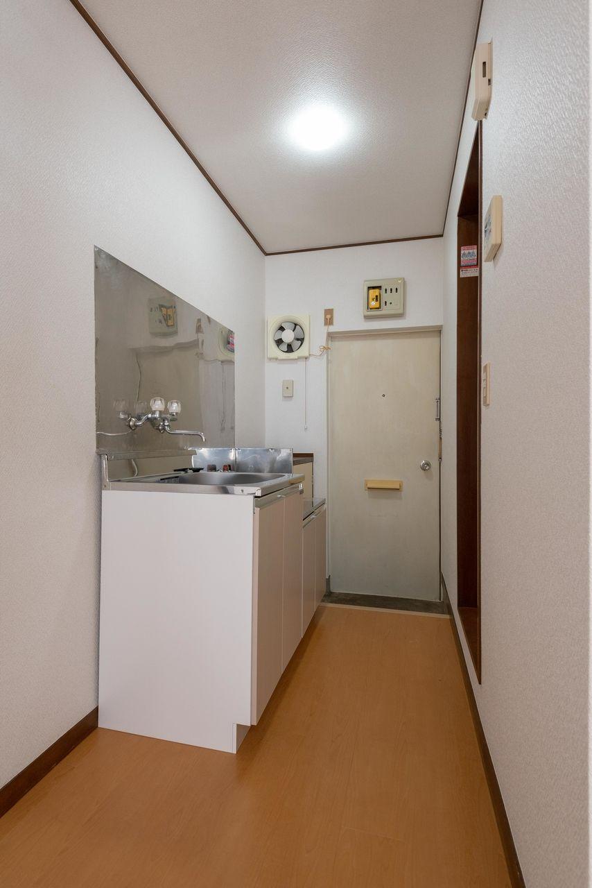 冷蔵庫を置くスペースも確保されています