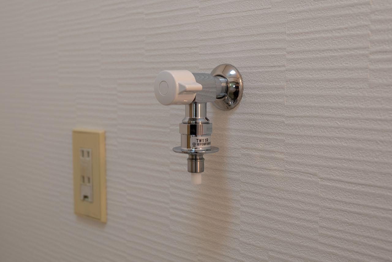 ワンタッチ式の洗面水栓