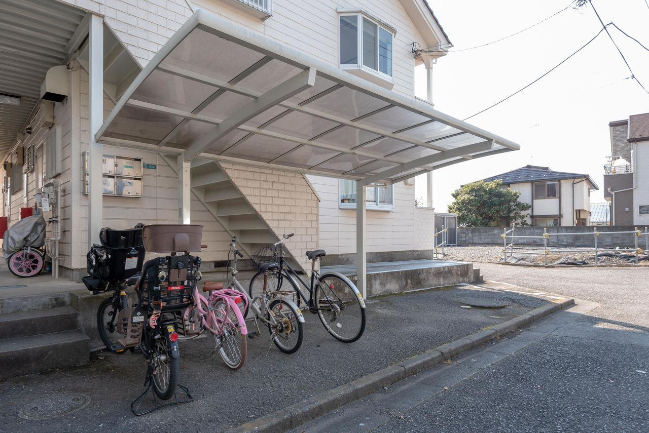 屋根のある駐輪場