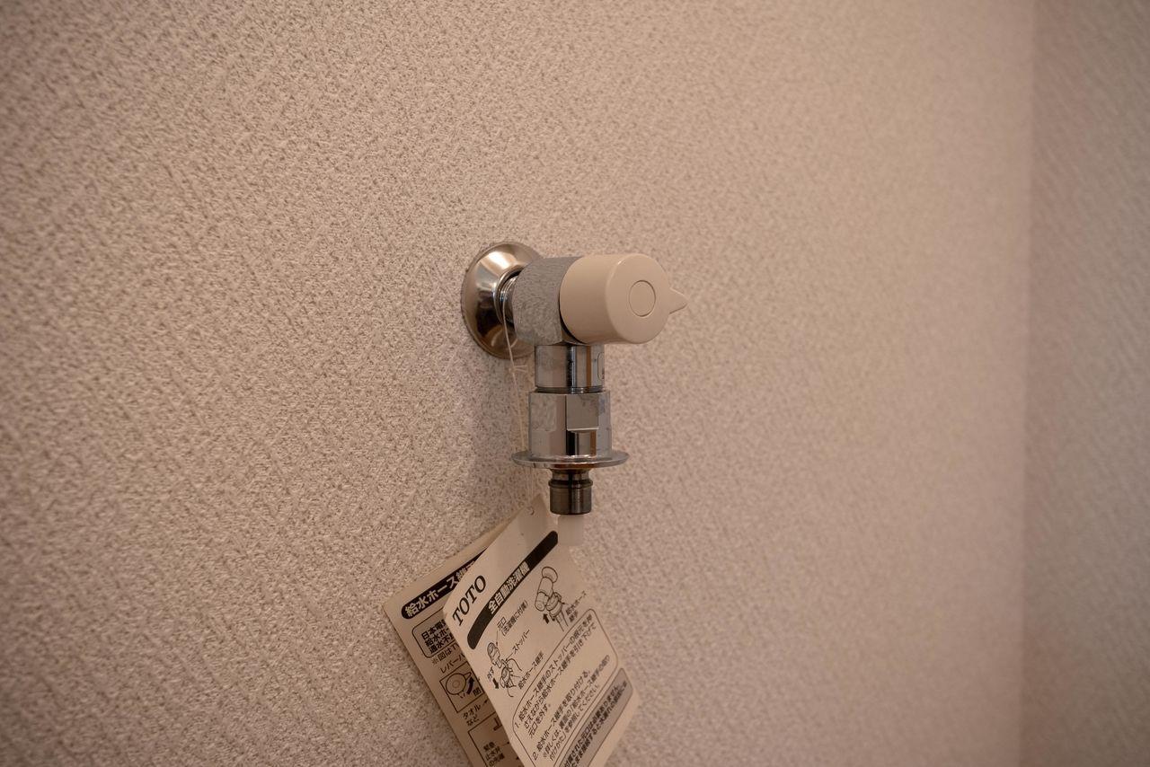 洗濯ホースの取付が簡単なワンタッチ式