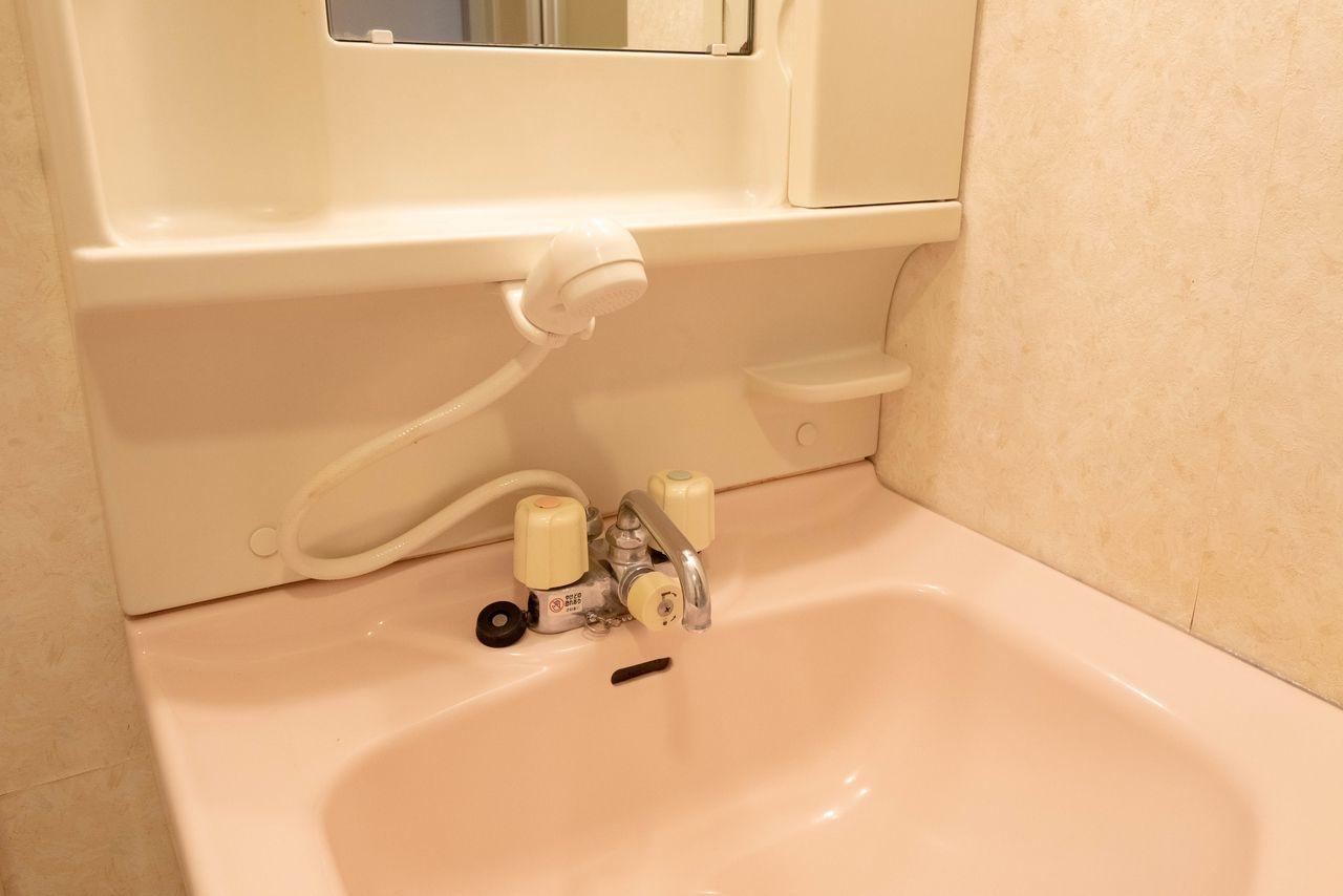 あると便利なシャワー付の水栓
