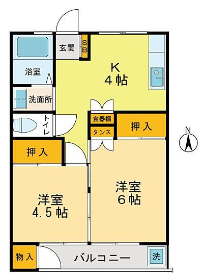 立川市柴崎町の2Kのアパート