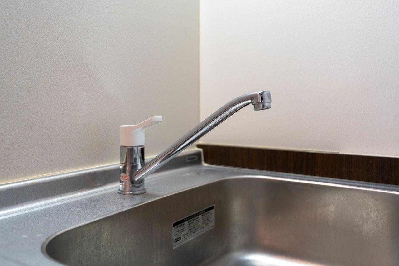 ワンレバー式の混合水栓