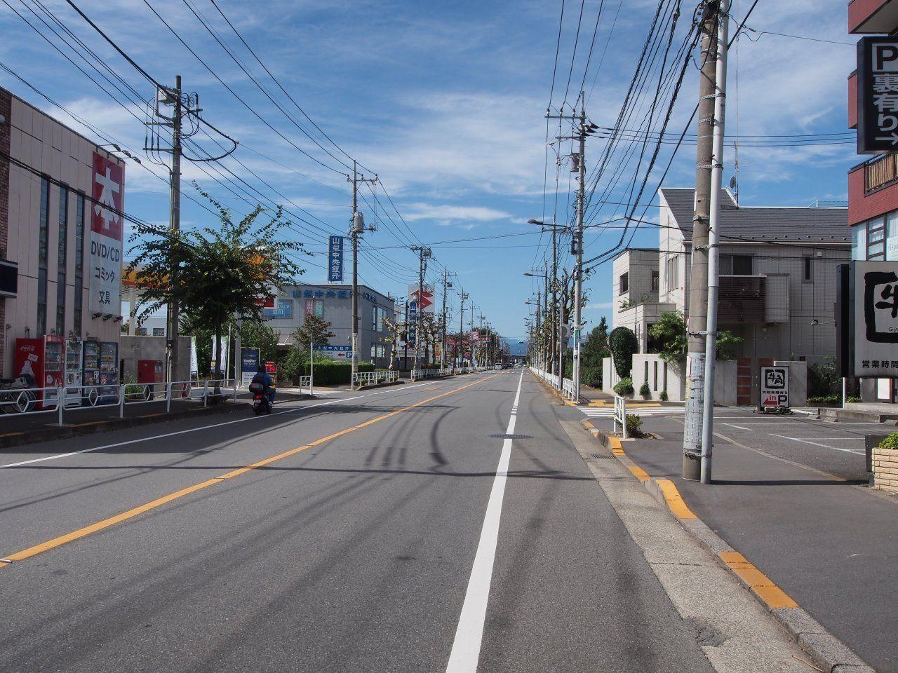 沿道には便利な商業施設が多数あります