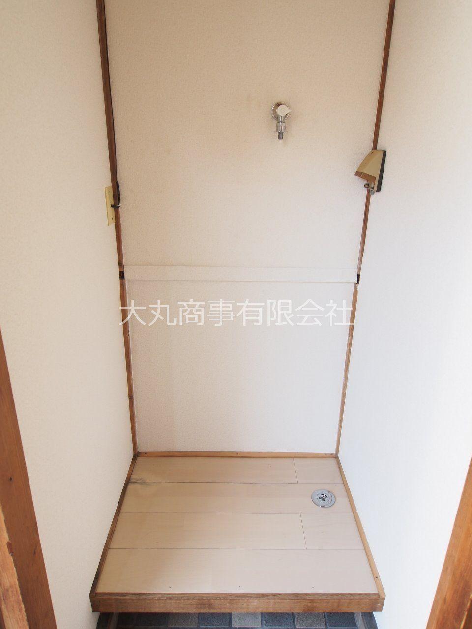 洗濯機が汚れにくい室内洗濯機置場