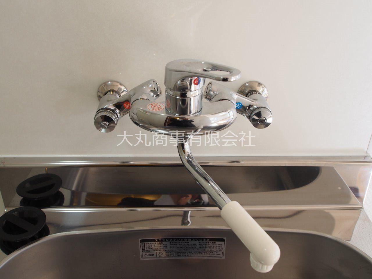 ワンレバー水栓で温度調整もラクラク