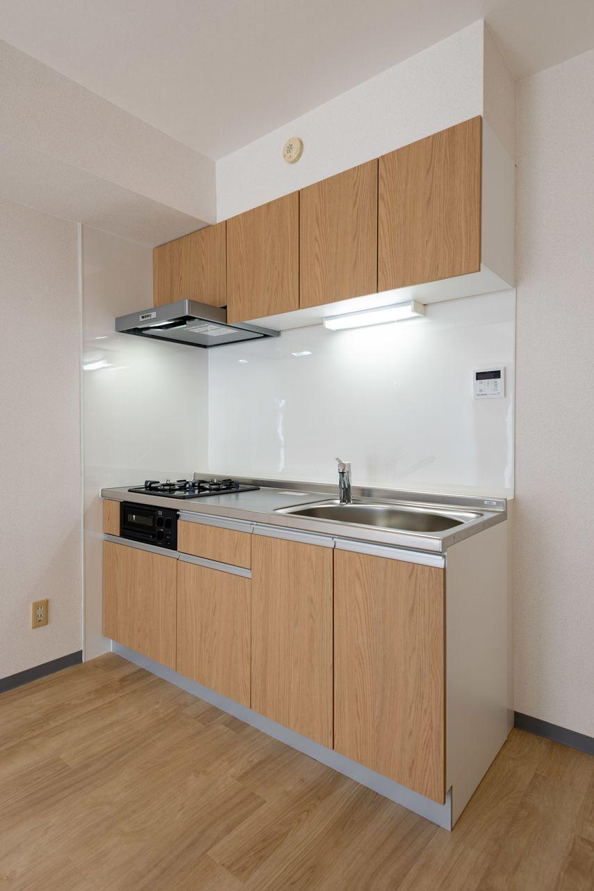 スペースを有効活用できる壁付キッチン